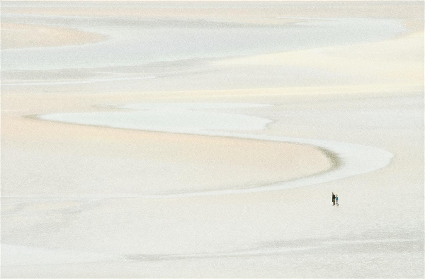 Beach Walkers by Stan Farrow
