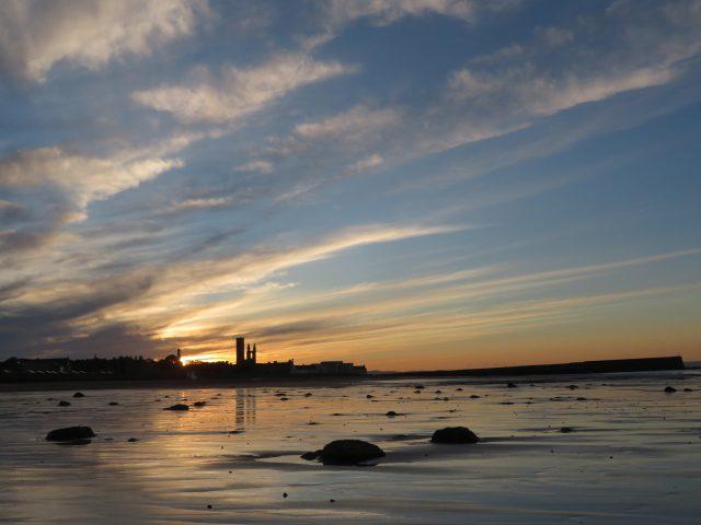 Midsummer sunset East Sands