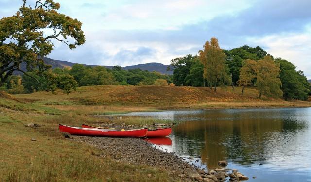 Canoeing at Kincraig